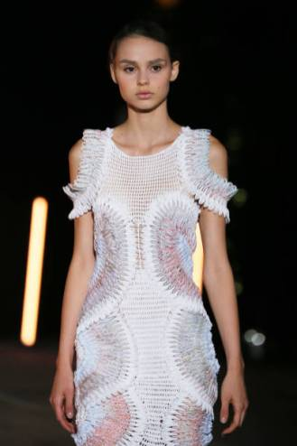 ROME, ITALY - SEPTEMBER 17: A model walks the runway of Maria Sapio Fashion Show S/S during the AltaRoma Fashion Week on September 17, 2020 at Palazzo Brancaccio in Rome, Italy. (Photo by Ernesto S. Ruscio/Getty Images)