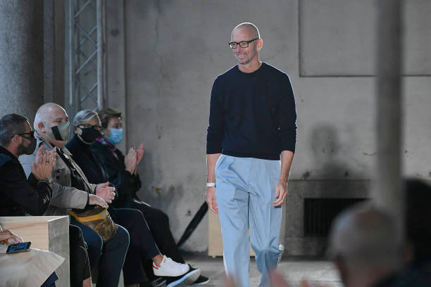 MILAN, ITALY - SEPTEMBER 25: Fashion designer Ingo Wilts walks the runway at the Boss Ready to Wear Spring/Summer 2021 fashion show during the Milan Women's Fashion Week on September 25, 2020 in Milan, Italy (Photo by Victor VIRGILE/Gamma-Rapho via Getty Images)