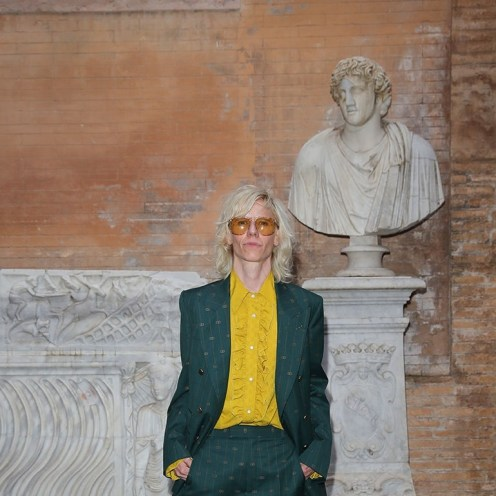 ROME, ITALY - MAY 28: Silvia Calderoni arrives at the Gucci Cruise 2020 at Musei Capitolini on May 28, 2019 in Rome, Italy. (Photo by Vittorio Zunino Celotto/Getty Images for Gucci)