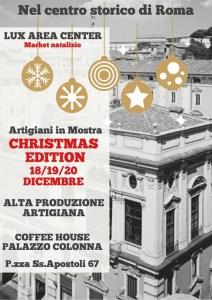 invito Christmas Temporary Shop Coffee House Palazzo Colonna 18,19 e 20 dicembre 2020 - Copia