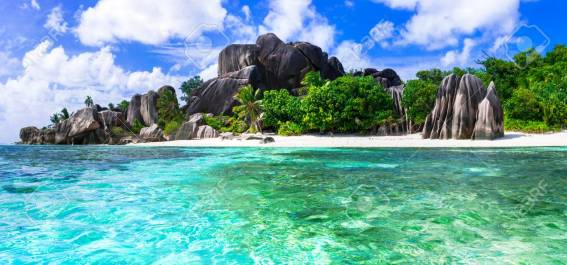 Most beautiful tropical beaches - Anse source d'argent in La dig