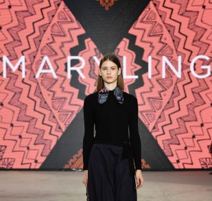 MILAN, ITALY - UNSPECIFIED: In this image released on February the 24th, a model walks the runway at the Maryling Fashion Show during the Milan Fashion Week Fall/Winter 2021/2022 on February 24, 2021 in Milan, Italy. (Photo by Jacopo M. Raule/Getty Images for Maryling)