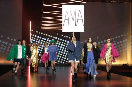 """ROME, ITALY - FEBRUARY 19: Models walk the runway at the Casa Preti """"Ama"""" Fashion Show during the Altaroma 2021 on February 19, 2021 in Rome, Italy. (Photo by Elisabetta Villa/Getty Images)"""