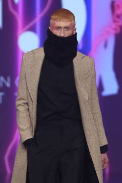 """ROME, ITALY - FEBRUARY 20: A model walks the runway at the Francesca Cottone """"L'Anima: Istinto E Ragione"""" Fashion Show during the Altaroma 2021 on February 20, 2021 in Rome, Italy. (Photo by Ernesto S. Ruscio/Getty Images)"""