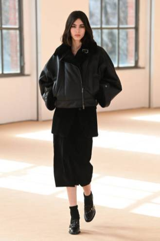 MILAN, ITALY - FEBRUARY 25: Look 38 at the Max Mara Fall/Winter 2021-2022 show during Milan Fashion Week on February 25, 2021 in Milano, Italy. (Photo by Daniele Venturelli/Daniele Venturelli/ Getty Images for Max Mara)