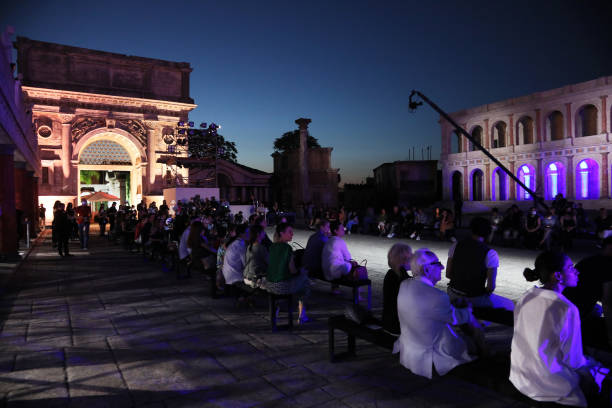 ROME, ITALY - JULY 10: A general view at the Rome Is My Runway #2 fashion show during Altaroma 2021 at Cinecitta Studios on July 10, 2021 in Rome, Italy. (Photo by Ernesto S. Ruscio/Getty Images)