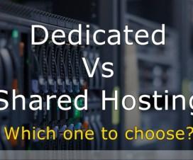Dedicated Vs. Shared Hosting Comparison