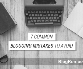 bloggong mistakes