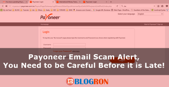 Payoneer Email Scam Alert, You Need to be Careful Before it is Late 7