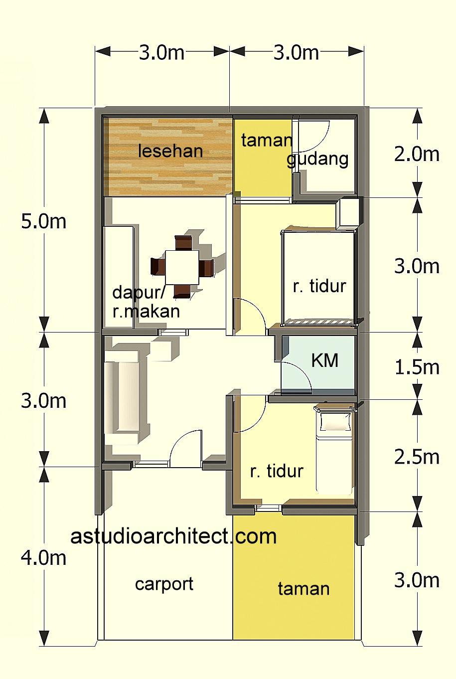 Desain Rumah Minimalis 2 Lantai Luas Tanah 60m2 Blog