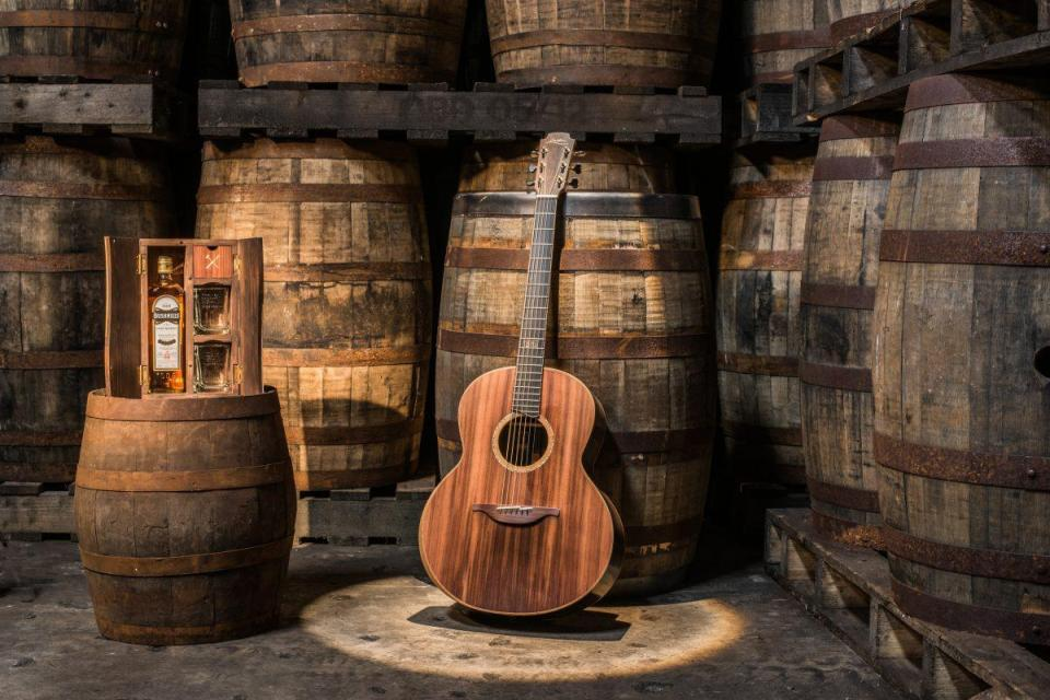 The guitar, with whisky. The still life of my dreams. Photo: Bushmills