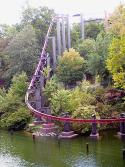 An Arrow Dynamics suspended roller coaster, Bi...