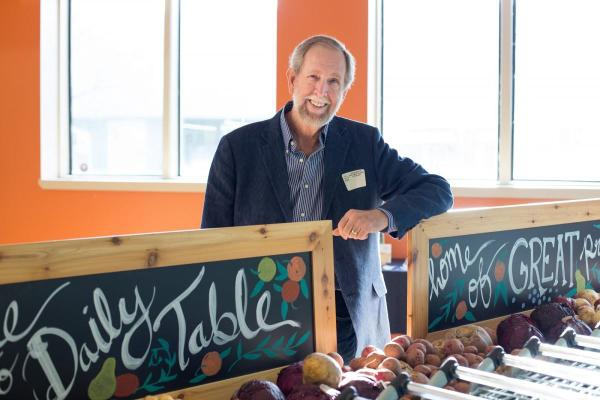 Doug Rauch at The Daily Table (Photo by Samara Vise)