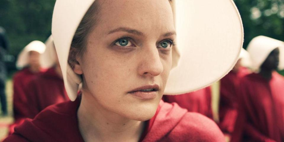Elisabeth Moss stars as Offred in Hulu's adaption of 'The Handmaid's Tale'.
