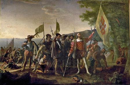 Desembarco de Colón en las Indias Occidentales