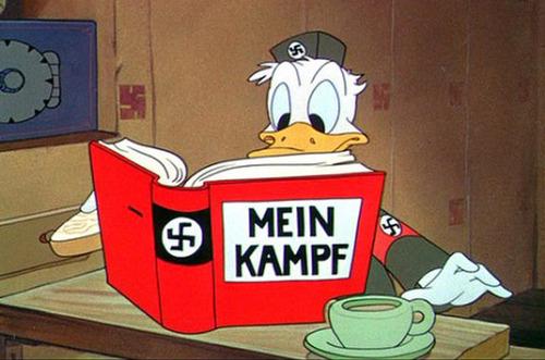 Donald lee 'Mein Kampf', de Hitler