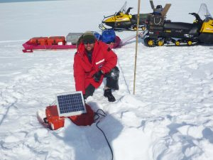 Colorado State University researchers, including Rob Anthony (pictured), measured seismic signals generated by ocean waves in Antarctica. Credit: Rob Anthony