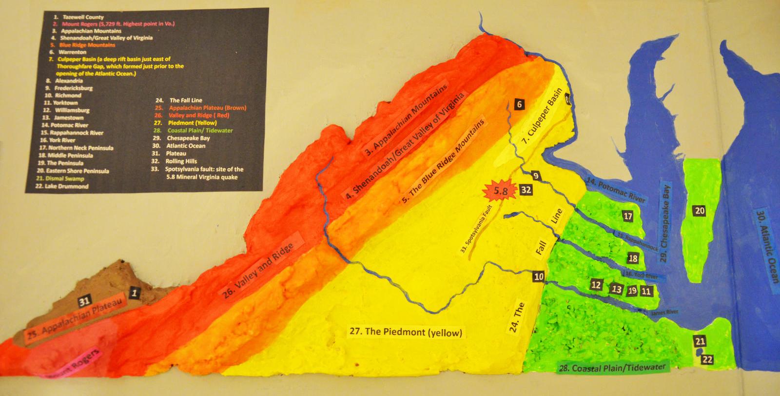 Salt Dough Physiographic Province Map Of Virginia