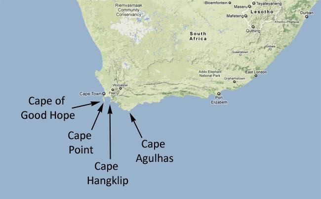 Cape Good Hope World Map