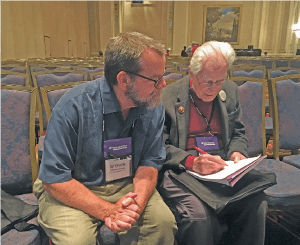 Stephen Kennedy and Richard K. Guy at MathFest