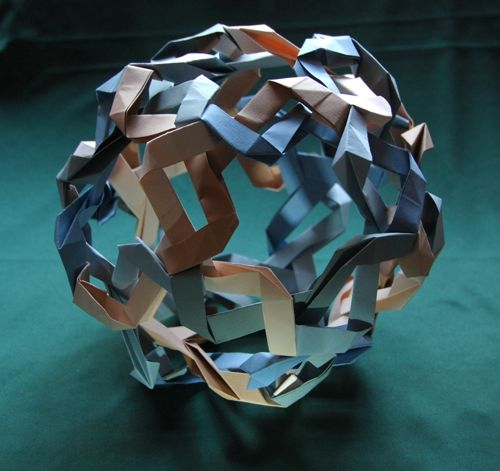 Unukalhai, an origami sculpture in Andrea Hawksley's Star Polyhedra series. Image: Andrea Hawksley.