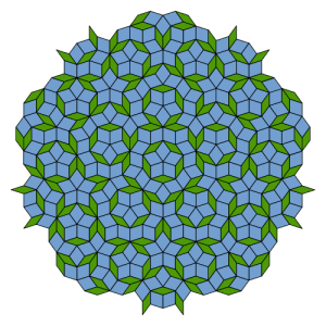 A Penrose tiling. Image: Inductiveload, via WIkimedia Commons. (Public domain.)