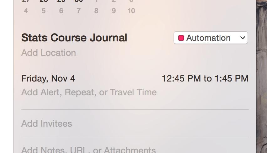 Time Saver: Automated Course Journals | PhD + epsilon
