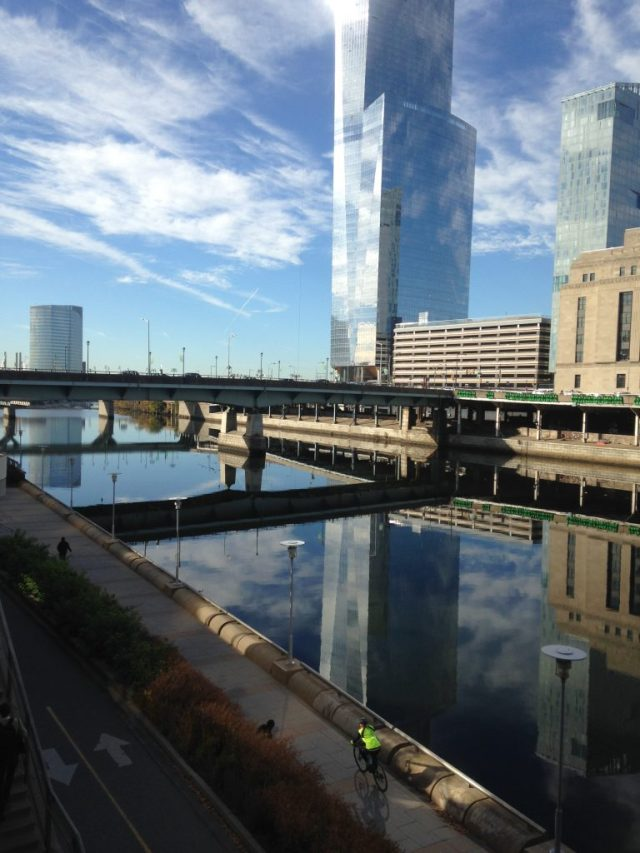 I took this the morning of November 8 because the Schuylkill river was so exceptionally still and peaceful. I was walking to the train station and looking across the river towards UPenn. The feeling in the city has changed dramatically, with many protests occurring in Philadelphia in the days since. UPenn as well as my own campus have been sites of acts of intimidation in the last weeks.