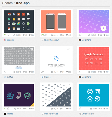 free vector images via dribbble