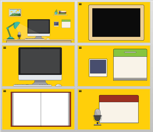 free template layouts for interactive course