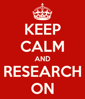 keep calm and research on