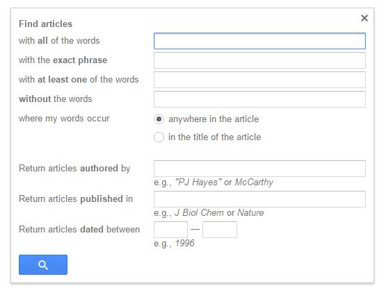 advanced google scholar