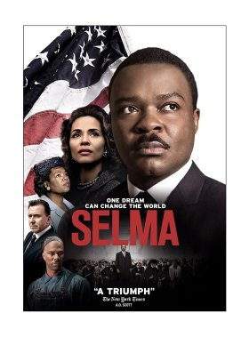 Cover of Selma featuring actors portraying MLK Jr., Coretta Scott King, and more.