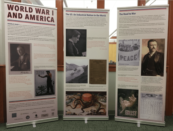 Display panels for the WW1 exhibit
