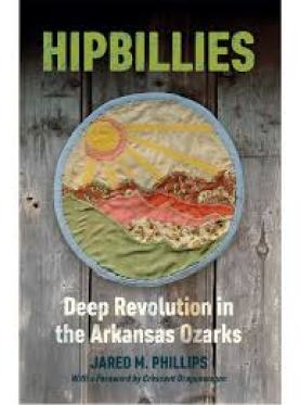 book cover of Hipbillies, featuring an embroidered sunset