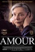 Poster of the film Amour, featuring an older woman
