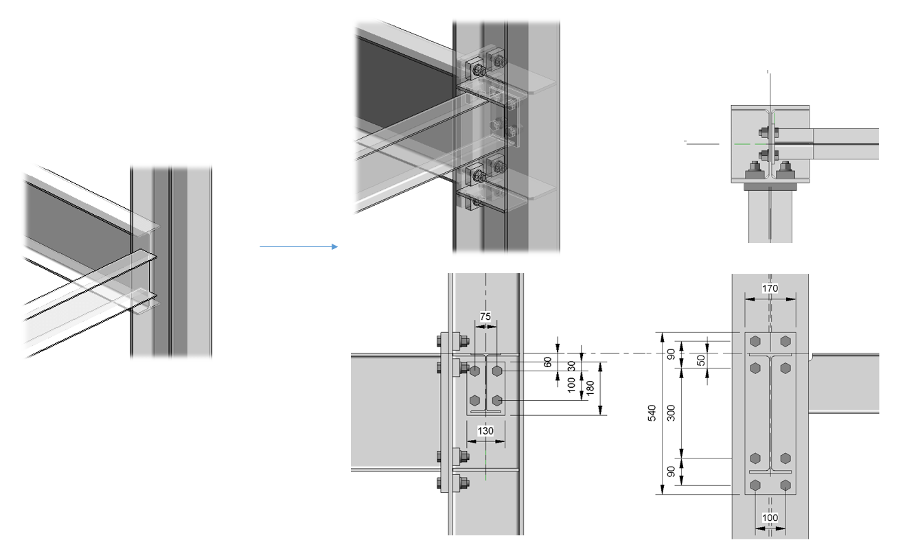 Steel connections for Revit beta