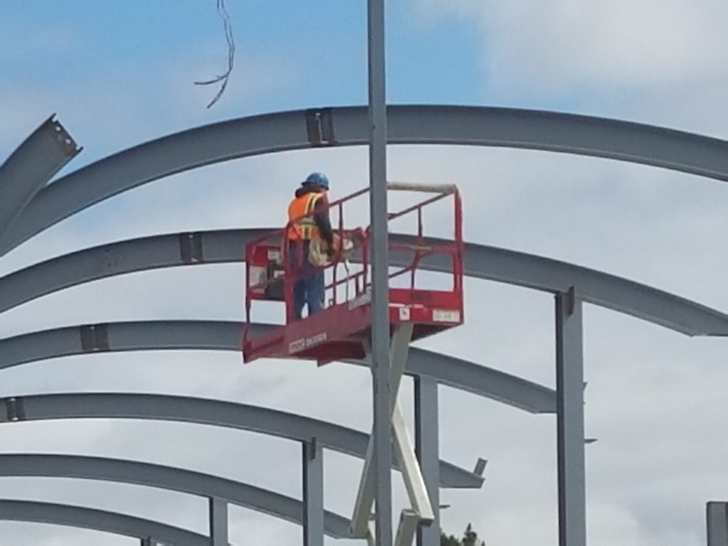 Steel erection on the Imperial Beach Library