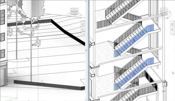 railing tools in Revit 2018