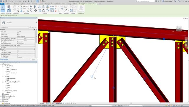 Revit for structure steel connections
