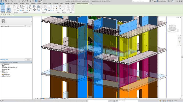 Improved section box controls in Revit 2018.2 update