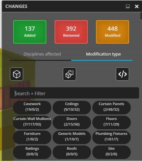compare changes between Revit design versions with BIM 360 Team