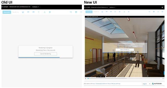 Revit renders UI