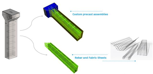 structural precast column