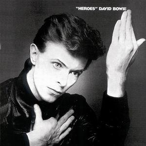 "The album cover of ""Heroes"", the twelfth studio album by David Bowie released in 1977."
