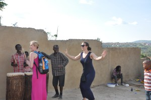 Weekend in Kigali: Emily and Leanne learning how to drum and dance traditional Rwandan style!