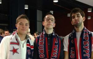 Ryan, Sammy and Sam with their new CKA scarves