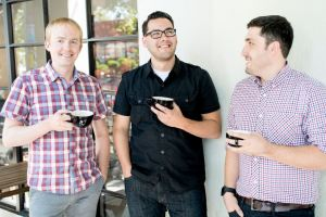 Alex, James, Elvis (Left to right)