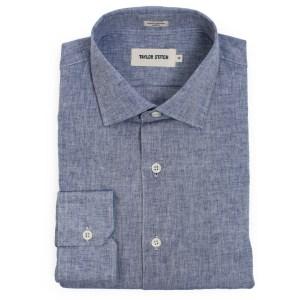 Figure 3 - Indigo Cotton Linen Hyde Shirt