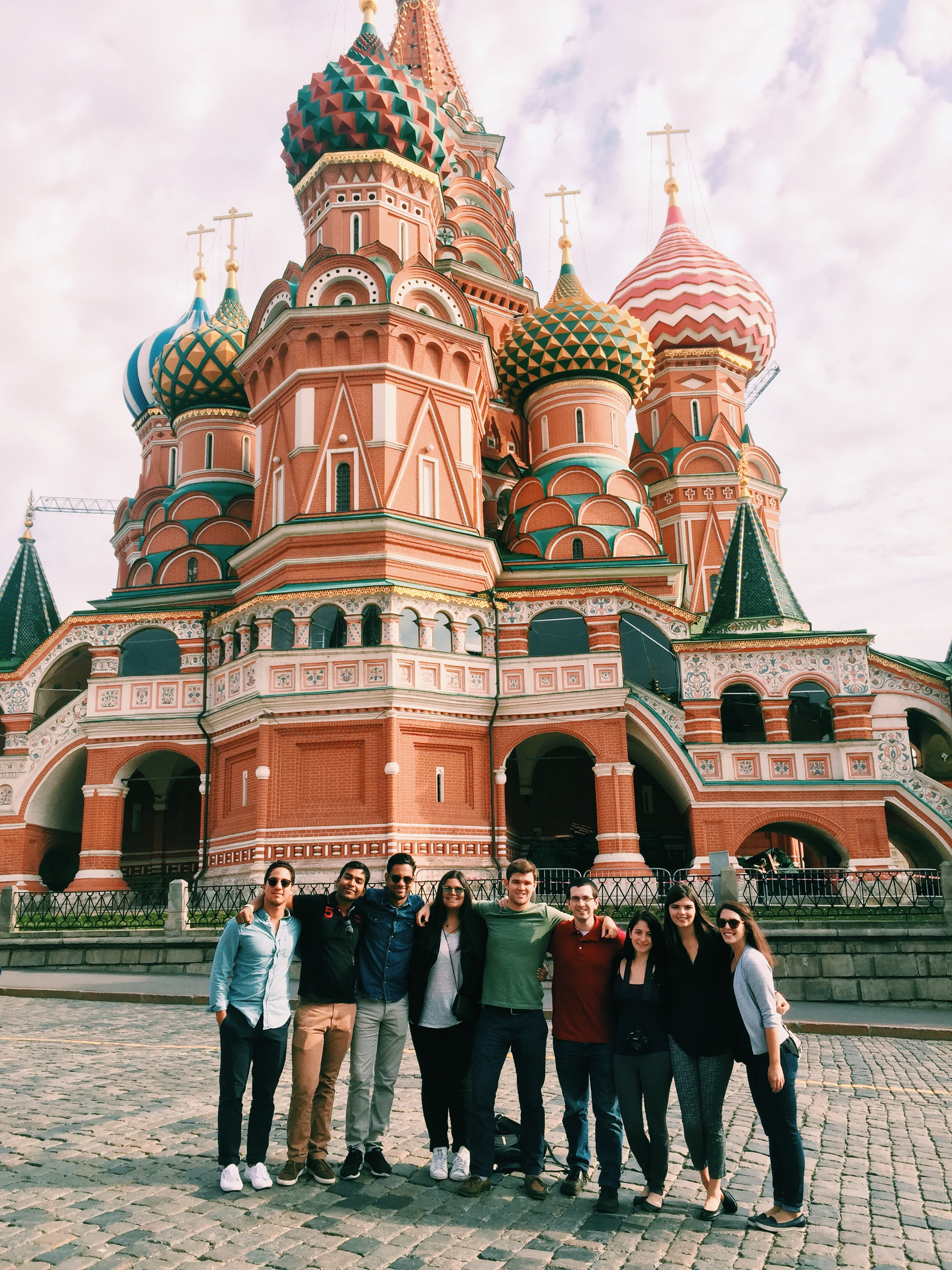 Part of the cohort in Red Square in Moscow